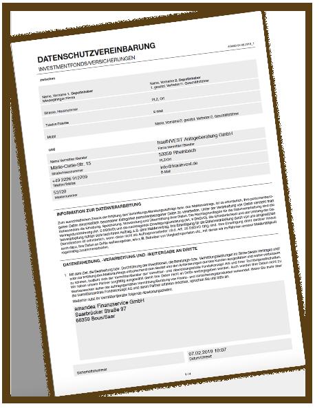 Datenschutzvereinbarung